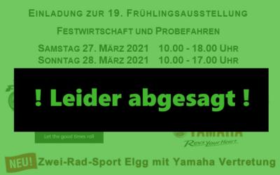 Frühlingsausstellung 2021 ist abgesagt
